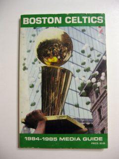 Boston Celtics Basketball Media Guide Bird Ainge Parish McHale
