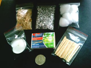 Fire Starter Kit Magnesium Strike Anywhere Matches Candle Emergency