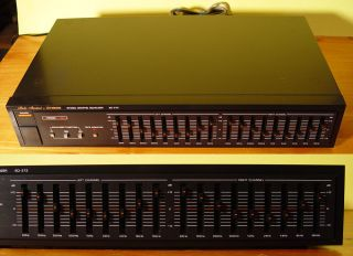 Fisher Studio Standard 2 Channel 9 Band Stereo Audio Graphic Equalizer