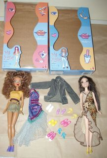 mattel barbie doll MY SCENE lot CHELSEA madison boxes clothes pairs