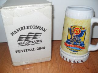 Ceramic Beer Stein Hambletonian Meadowlands Racetrack 2000 SGA