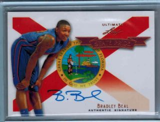 2012 Leaf Ultimate STATE PRIDE Rookie AUTO on card Autograph BRADLEY