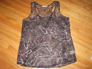 Maurices Womens Size 2X Black Semi Sheer Lace Racer Back Tank Top