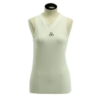 McDavid Womens 885 V Neck Sleeveless Compression Shirt White Medium