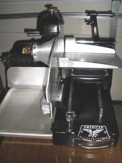 COMMERCIAL AMERICAN MEAT SLICING MACHINE 2 9 AMP MOTOR LOCAL PICKUP