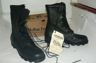 McRae Mens 6189 All Leather Combat Boots w Panama Military US Army