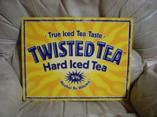 Twisted Tea Malt Liquor Tin Tacker Metal Sign Mint Unused New