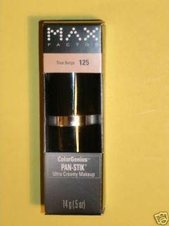 Max Factor Pan Stik True Beige 125 Foundation Stick