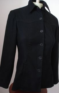 Max Studio Black Polyester Military Style Jacket Blazer 4