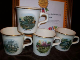 Taylor International U s A Maxwell House Coffee Mug Currier Ives 4