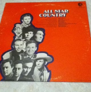 All Star Country Various Hank Williams Mel Tillis Record Vinyl