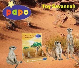 Papo Wild Life Set of 3 Meerkats 50099 Brand New