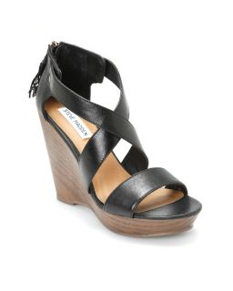 Steve Madden Black Romee Wedges