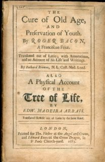 1683 Cure of Old Age Medical Book Tree of Life Magic Occult First