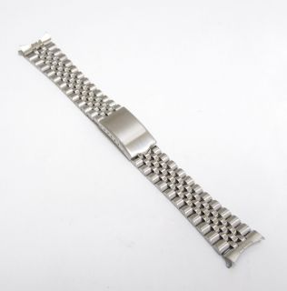 Metal Men Watch Band Stainless Steel Folded Clasp Fits Seiko Men Watch