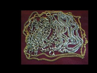 Vintage Old Gold SIlver Junk Estate Finds Findings Junk Drawer Jewelry