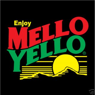 Mello Yello NASCAR Racing Car Bumper Sticker 4X4