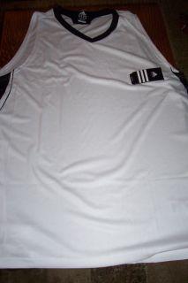 NWT $40 Adidas Mens Basketball Jersey White 2XT Tall