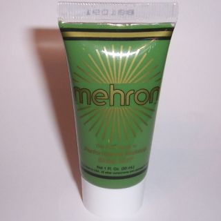 Green Water Base Cream Mehron Fantasy FX Makeup Face Paint Tube