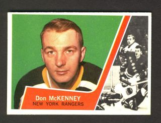 Don McKenney New York Rangers 1963 64 Topps Card 53