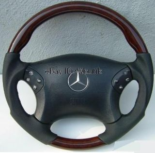 Mercedes Benz W203 C240 C320 Sport Wood Steering Wheel