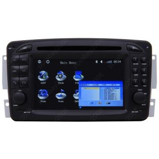 1998 02 Mercedes Benz SLK Class R170 Car GPS Navigation iPod Radio TV