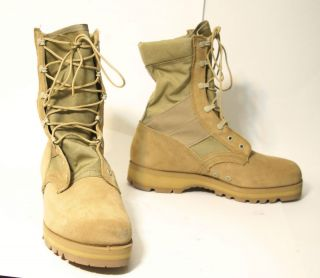 New McRae Army Desert Assault Combat Boots Hot Weather Vibram Sierra