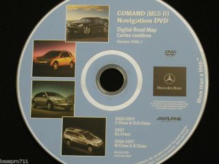Mercedes Benz GL M CLK R Navigation DVD Disc BQ 6460220