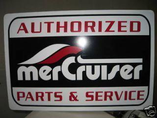 Mercury Mercruiser Parts Service Sign Boat Inboard I O8