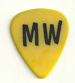John Mellencamp Mike Wanchic MW Tour Guitar Pick Yellow