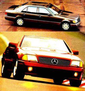 1993 Mercedes Benz s SL Class Brochure 500 Sel 600 SL