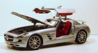 18 Mercedes Benz SLS AMG Die Cast Silver Maisto