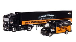 Schuco 26913 Mercedes Benz Actros Sprinter Sixt Set