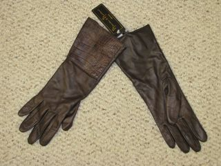 Women Brown Mercer Madison Silk Lined Leather Glove