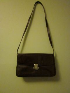Brown Patent Leather Suarez Bag w removable strap Shoulder Bag or