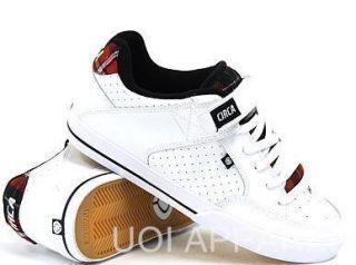 Circa 205 NYC Vulc Low Top Skate Shoe 83 Size White Aurora Red