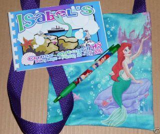 Little Mermaid Disney Cruise Autograph Book Bag Pen New