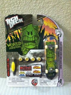 Tech Deck World Industries 96mm Skateboard Cartoon Design 2 6 Brand