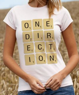 One Direction T Shirt 1 Direction Scrabble Letters Tee Shirt Tshirt