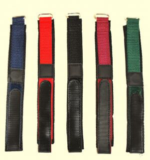New Heavy Duty Velcro Replacement Mens Watch Strap Band