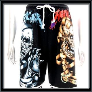 Metallica Shorts Free Size Rock Music Skull Heavy Metal Dead