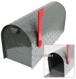 Heavy Steel Metal US Mailbox Postal Plate Rural Mail Box Postmaster