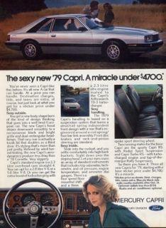 1979 Mercury Capri Original Vintage Ad