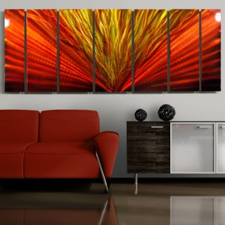 Painted Abstract Metal Wall Art Decor Red Hot Stuff II