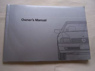 Mercedes 500 SL 300 SL Owners Manual Parts w 129 Service 300SL 500SL