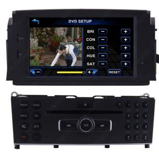 DIN DVB T TV DVD Player Radio for 07 11 Mercedes Benz C200