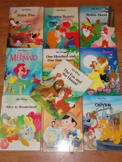 OF 10 WALT DISNEY TWIN GALLERY BOOKS ROBIN HOOD PETER PAN PINOCCHIO