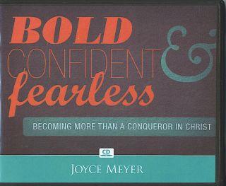 Bold Confident Fearless Joyce Meyer 4 CDs