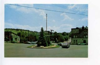 Meyersdale PA Street View Old Cars Vintage Store Fronts Postcard