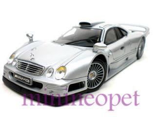 Mercedes Benz CLK GTR GT R AMG Street Version 1 18 Silver